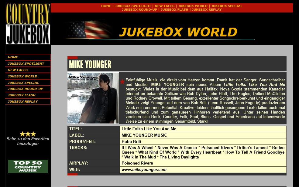 Mike younger press and media thanks to the folks at country jukebox for the following review stopboris Gallery