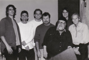 January 17, 2001 Memphis TN (L-R) Mike Younger, Spooner Oldham, studio engineer(name unknown, David Hood, Jim Dickinson, Luther Dickinson, Levon Helm