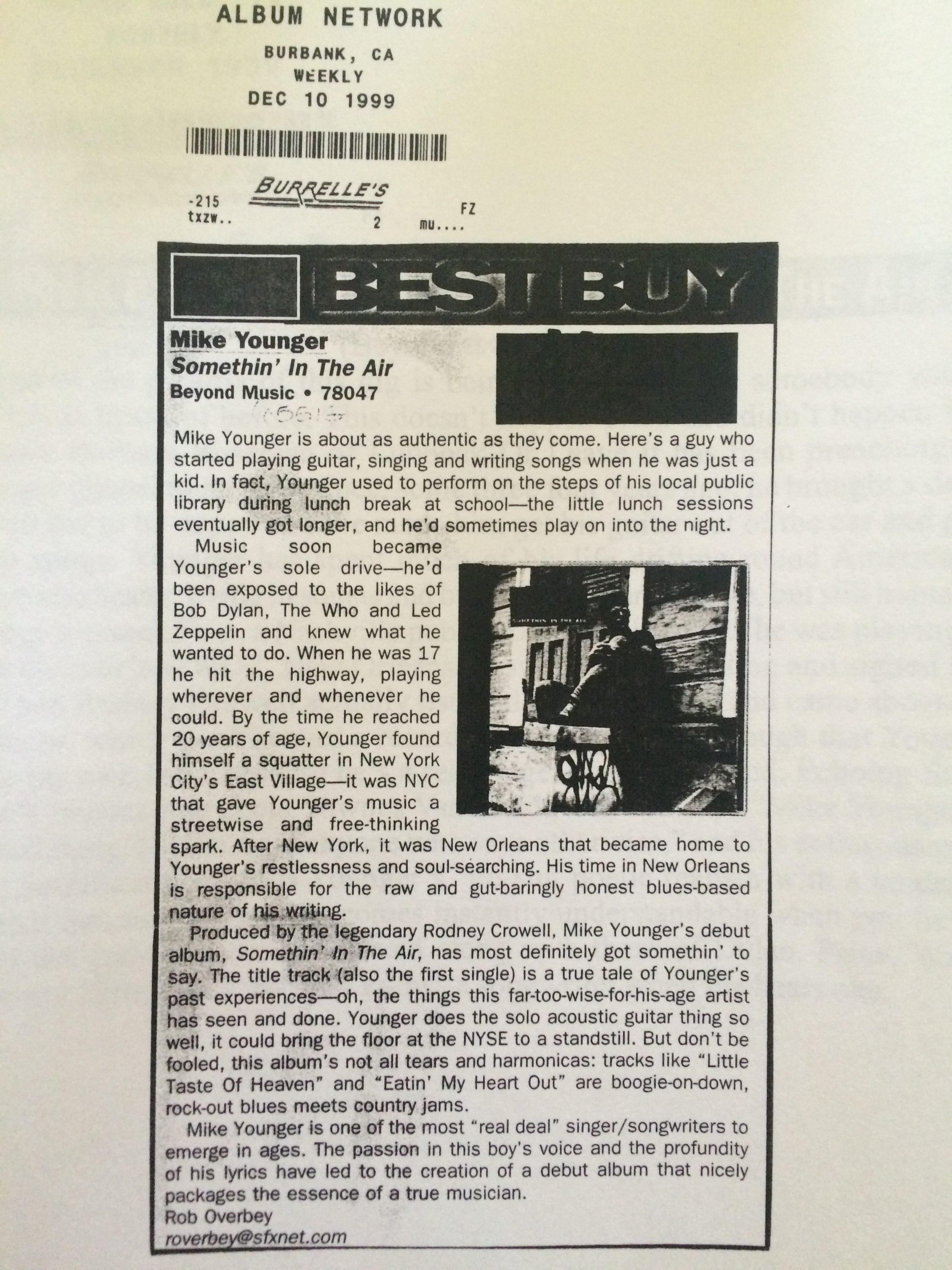 Album Netwrork review 1999