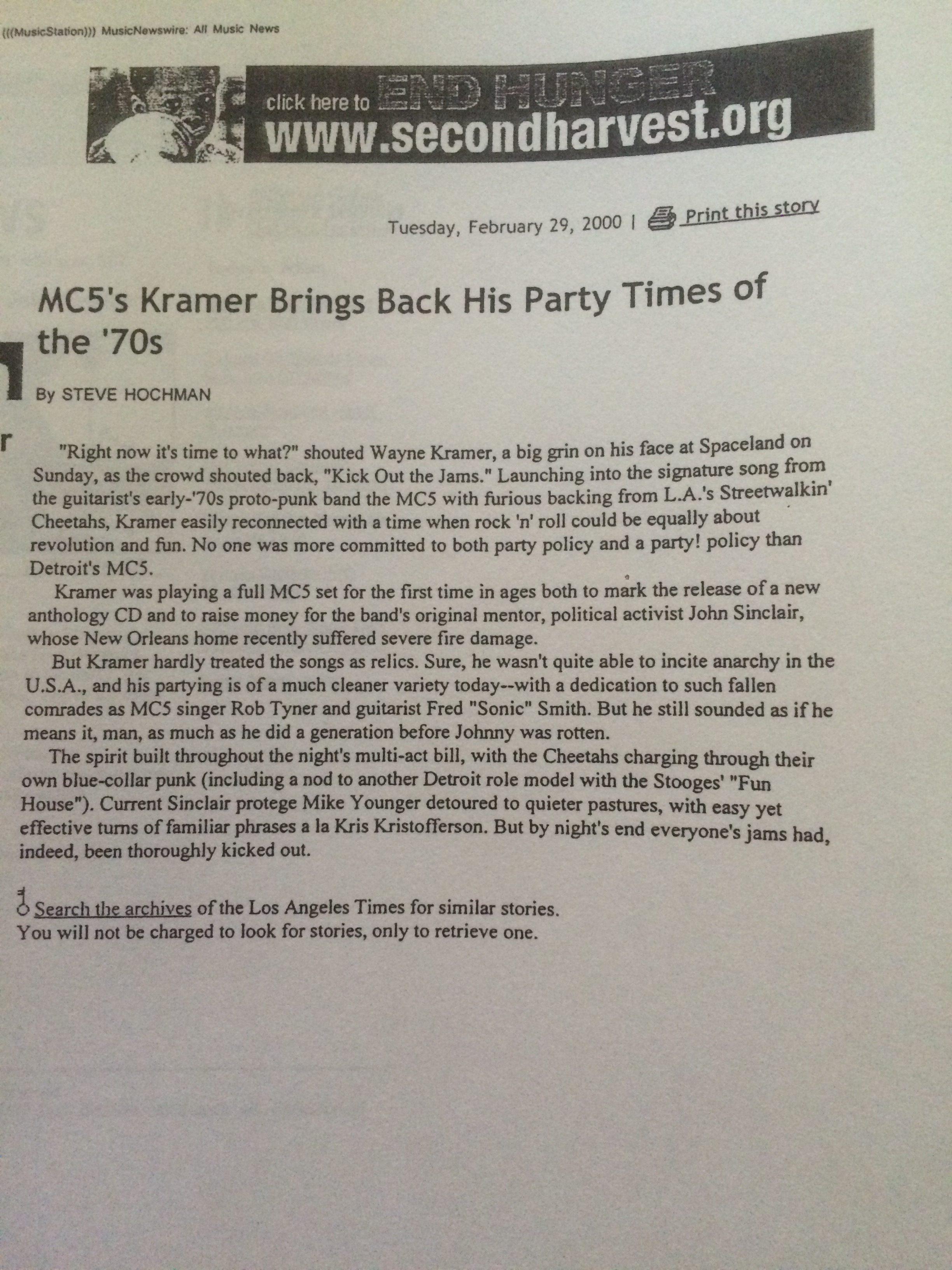 LA Times Blurb 2000