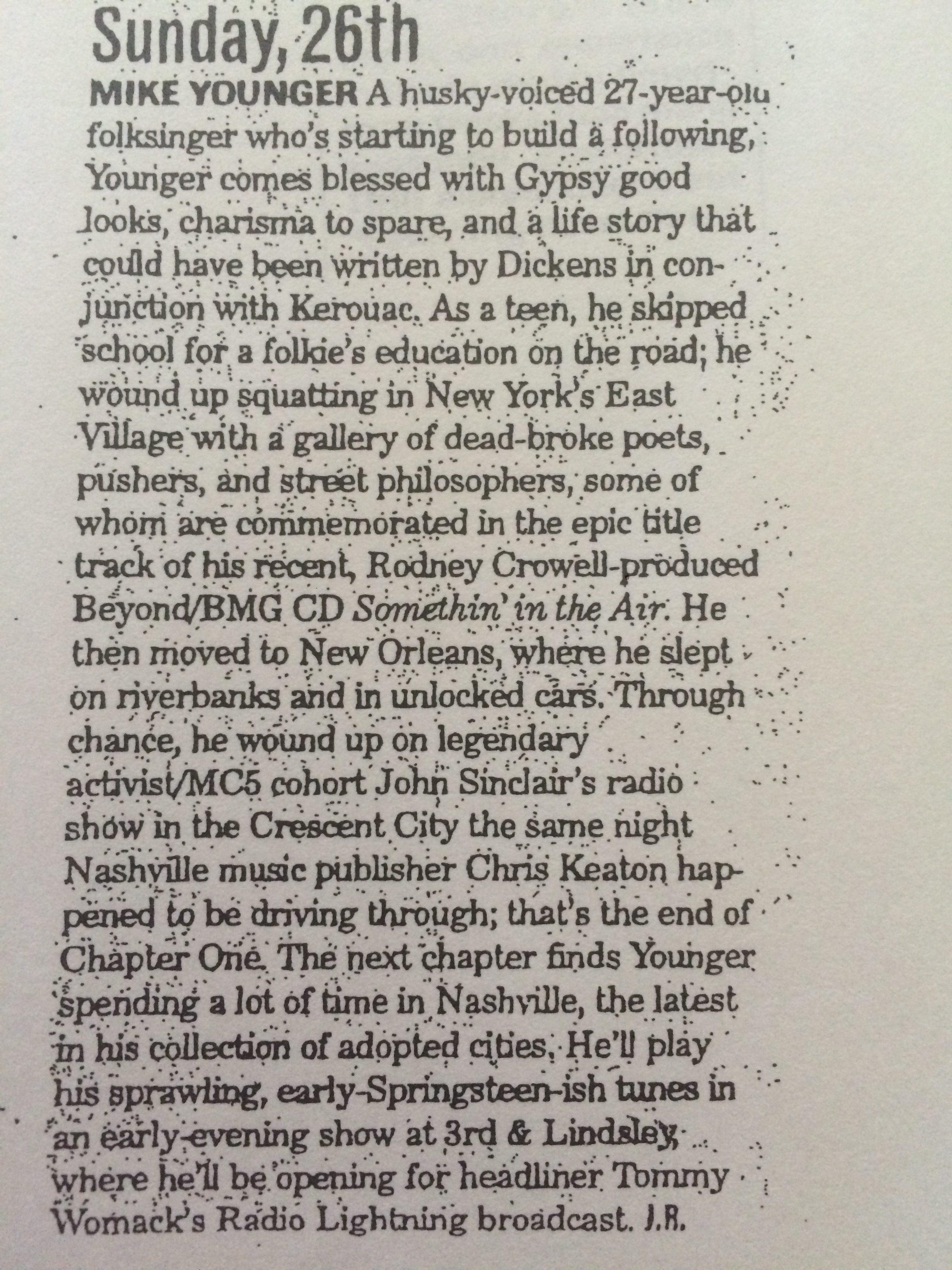 The Nashville Scene 2000 review
